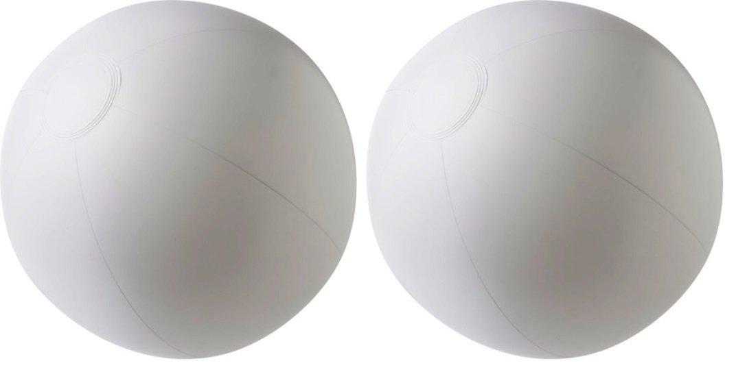 2-Pcs White Beach Balls (Size - 14'') Now Desgin Your Own Beach Ball | Color it - Autograph it & Enjoy Pool Party Balls, Beach Fun, Summer Games