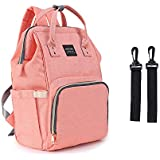 Diaper Bag Multi-Function Waterproof Travel Backpack,Organizer Baby Back Pack for Mom by ONETKM,Best Care for Kids (Pink)