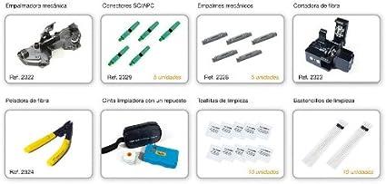 Televes 2341 - Kit conectorización+empalme mecanico fibra optica