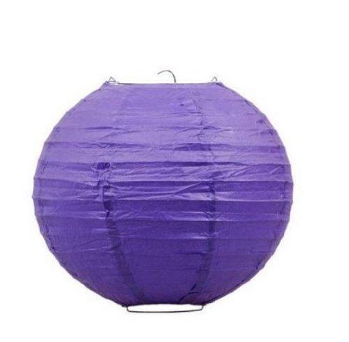 12 PCS Purple Chinese/Japanese Paper Lantern/Lamp 12'' Diameter - Just Liroyal Brand