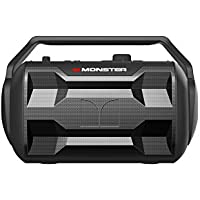 Monster NOMAD | 30 Watt, 30 Hour Portable Bluetooth Speaker, Weather Resistant (IPX4), AUX Input, MIC Input, FM Radio, and USB Charger for your Portable Devices (Black)