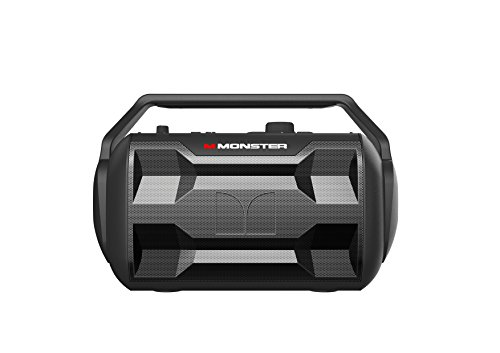 Monster NOMAD | 30 Watt, 30 Hour Portable Bluetooth Speaker, Weather Resistant (IPX4), AUX Input, MIC Input, FM