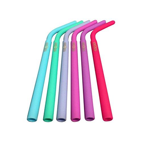DeLaCasa COMINHKPR122615 Silicone Drinking Straws