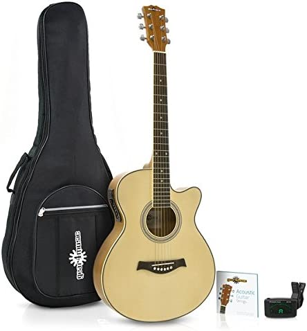Guitarra Electroacustica Single Cutaway + Accesorios de Gear4music ...