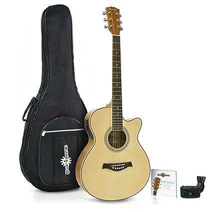 Guitarra Electroacústica Single Cutaway + Accesorios de Gear4music