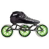 Atom Luigino Bolt 125 Inline Skate Package (Size 14, Green)