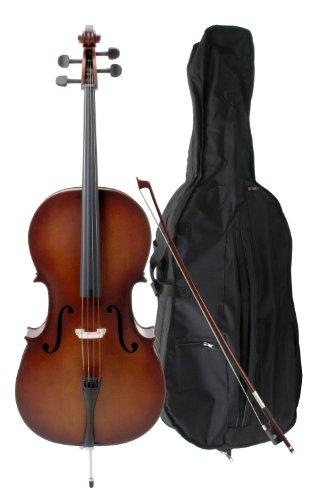 Classic Cantabile Student Cello 3/4 (Einsteiger/Schülerinstrument inkl. Tasche und Bogen, Decke aus Fichte, Boden, Zarge, Hals und Steg aus Ahorn)