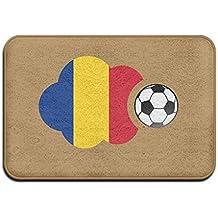 Breathing Yoga Inside & Outside Door Mats Romania Flag Soccer Ball Design Pattern For Kitchen Dining