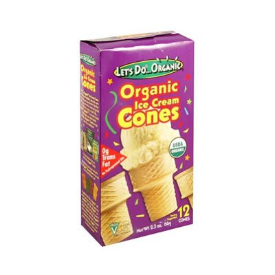Lets Do Organics Ice Crm Cone Org, 2.3 Oz