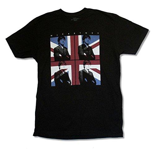 "Adult Paul McCartney ""Flag Tour 2013 B-R"" Black T Shirt (Large)"