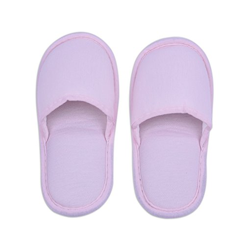 1 Pair Travel Foldable Slippers Anti-slip with Drawstring Storage Bag for Home Hotel Flight Indoor Outdoor Pink for Women RwMXg