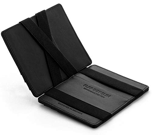 Magic Wallet Flap Boy Slim Front Pocket Jaimie Jacobs RFID (Black)