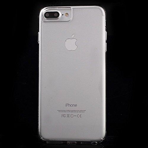 FSHANG Crystal Clear PC Hard Phone Tasche Hüllen Schutzhülle - Case für iPhone 7 Plus/6s Plus/6 Plus - schwarz