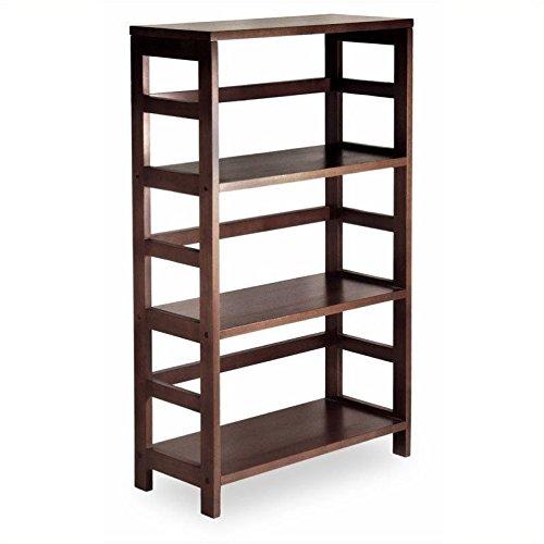 Awesome Winsome Wood 3 Shelf Wide Shelving Unit, Espresso