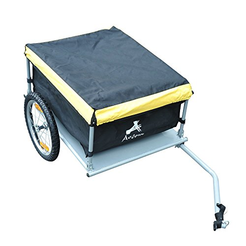 Aosom Elite Bike Cargo / Luggage Trailer - Yellow / Black