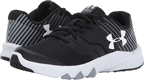 Athletic Youth Shoes (Under Armour Boys' Grade School Primed 2, Black (001)/Steel, 7)