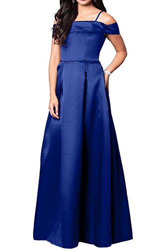 Ballkleider Ivydressing Lang 2017 Elegant Abendkleider Neu Satin Royalblau Schwarz Promkleider q8qp4A