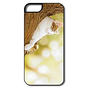 IPhone 5 5S Shell, Geek Cat Cases For IPhone 5S - White/black Hard Plastic