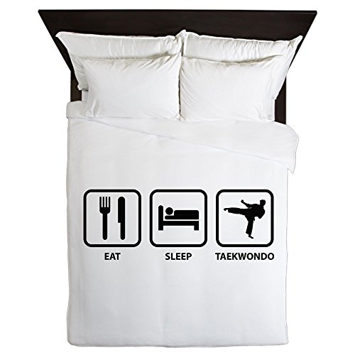 CafePress - Eat Sleep Taekwondo - Queen Duvet Cover, Printed Comforter Cover, Unique Bedding, Microfiber by CafePress
