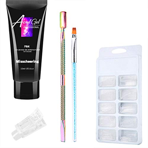 - Putars Builder Gel, Nail Extension Gel Nail Strengthen UV Gel Nail Art Manicure Set Poly Gel Lasting Finger Nail Quick Drying Camouflage UV Lamp Extension Set