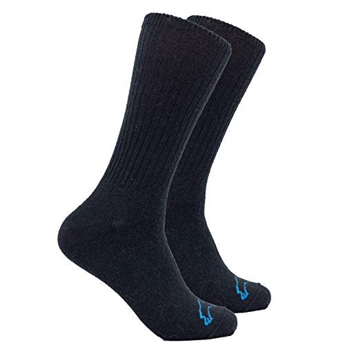 - The Buffalo Wool Co. Casual Crew Bison/Merino Blend Socks Black Large