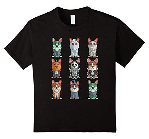 Kids Cute Corgi Halloween T-Shirt Funny Halloween Gift Tee 10 (Cute Halloween Graphics)