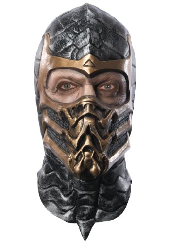 Rubie's Mortal Kombat Deluxe Overhead Scorpion Mask, Brown, One Size]()