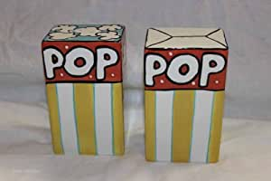 """Pop Salt and Pepper Shakers 2""""x5""""x3"""" with Love Joanne"""