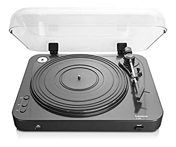 Lenco L-85 Black | 33 & 45 RPM Semi-Automatic Belt Drive USB Turntable for  Vinyl with Integrated Stereo Pre-Amplifier and Moving Magnetic Cartridge