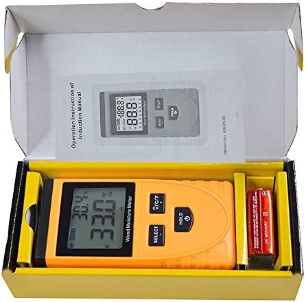 L.Z.HHZL Moisture Detector High Precision Inductive Wood Moisture Meter Hygrometer Digital Electrical Ambient Temperature Tester Measuring Tool