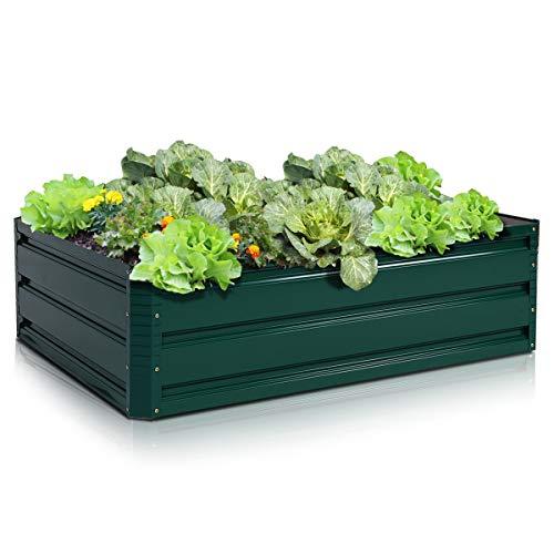 """Giantex Dark Green 39.5""""x31.5"""" Patio Raised Garden Bed Vegetable Flower Plant Dark Green (39.5""""x31.5"""")"""
