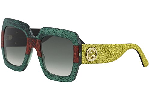 Sunglasses Gucci GG 0102 S- 006 MULTICOLOR / GREEN GOLD