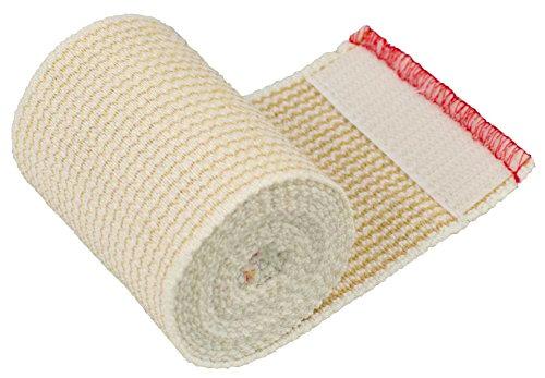 GT® Cotton Elastic Bandage Roll w/Hook & Loop Closure On Both Ends, 3 Width - Single Pack