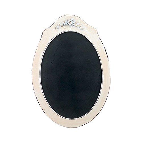 Vintage Oval Shaped Wood Framed Chalkboard Ivory Rose 21-...