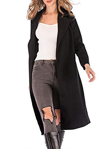 Romacci Women's Coat Long Sleeve Pocket Longline Winter Fall Warm Coat Overcoat