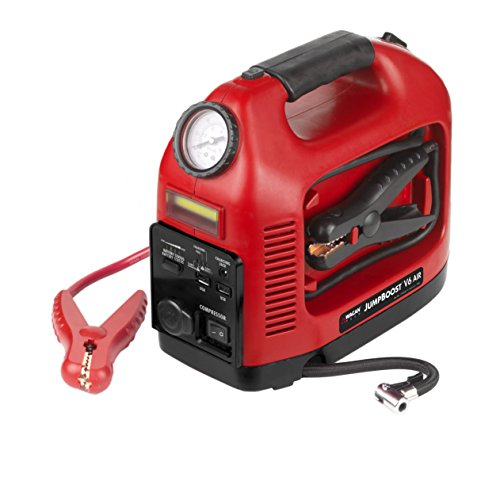 Wagan EL7550 Jumpboost V6 AIR - Battery Jump Starter Portable Power Supply, Air Compressor, Battery bank and Tire Inflator