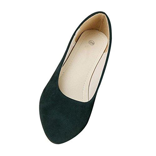 Minetom match Plate Vert Chaussure Mocassin Femme Marche Escarpin Ballet Foncé Casual Plat Chaussures Tout SUpzMV