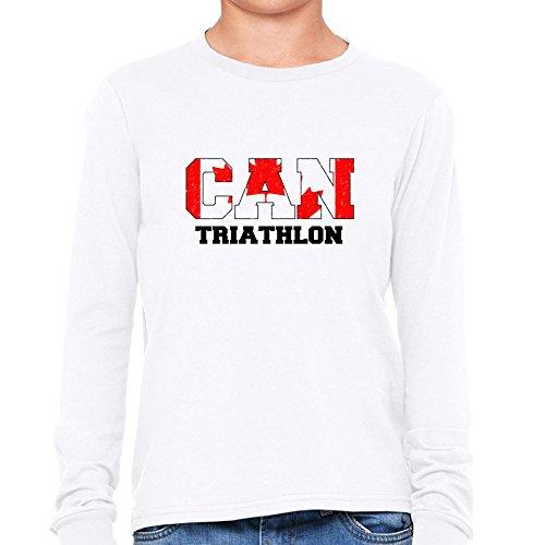 Canada Triathlon - Olympic Games - Rio - Flag Boy's Long Sleeve - Apparel Canada Triathlon