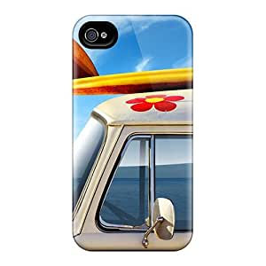 High Quality Shock Absorbing Case For Iphone 4/4s-a Day Of Surfing