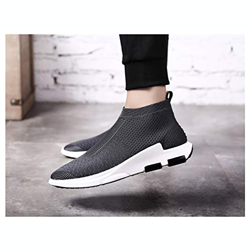 Hommes 42 Sport paresseuses Course Confort Chaussures Gris Couleur Baskets C Taille Hy Tricot Respirabilité Jogging Automne Printemps Mesh pour Chaussures de Marche Noir Rouge qgpnfwI