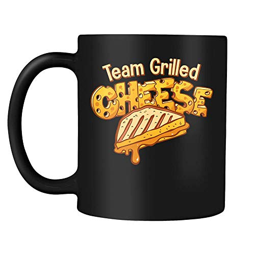 Chocolate Toasted Milk - Team Grilled Cheese Toasted Cheesy Foodie Lovers Addict Cheese Pizza Day September 5 Coffee Mug Gift For Kids Boys Girls Women Men Black Ceramic Coffee Tea Milk Hot Chocolate Mug Cup 11oz