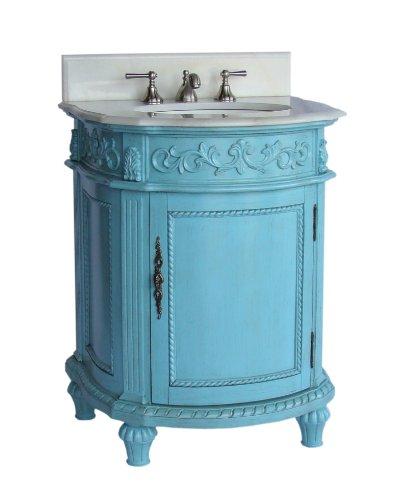 """26"""" Hand Painted Catalina Bathroom Sink Vanity Model # CF-4409W-BU -"""