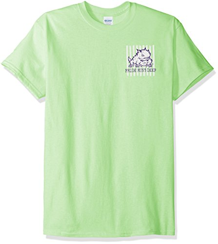 New World Graphics NCAA TCU Horned Frogs Spirit Short Sleeve T-Shirt, Medium, Mint (Mint Frog)