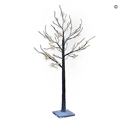 Lightshare 4' Lighted Snow Tree, Small Upside Down Christmas Trees