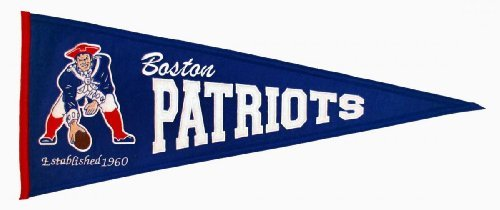 Winning Streak NFL New England/Boston Patriots Throwback Pennant