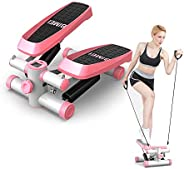 LIANG Fitness Twist Stepper Electronic Display Home Exercise Equipment with Resistance Bands