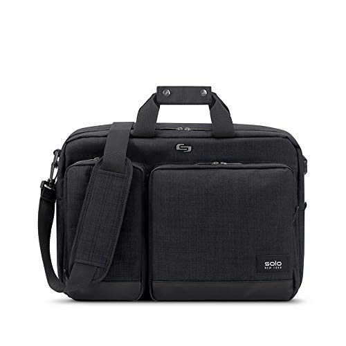 Solo Duane 15.6 Inch Laptop Hybrid Briefcase, Converts to Backpack, Slate, Amazon Exclusive