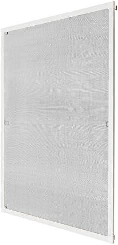 TecTake Moustiquaire pour fenêtre et Porte cardre en Aluminium - diverses Couleurs et Tailles au Choix - (95x210 cm | Blanc | no. 401198)