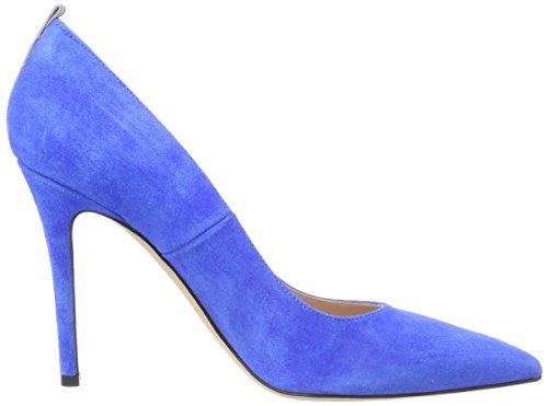 Sjp azzurro Pompe Blu Fawn Parker Blu Da Camoscio Jessica Sarah Donne toe Chiuso r8vrxwR