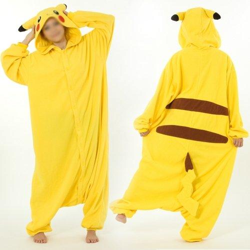 Disfraz de Pikachu Vellón Pijama animales ropa de noche ...